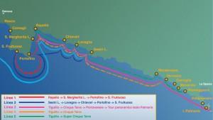 Mappa interattiva delle linee